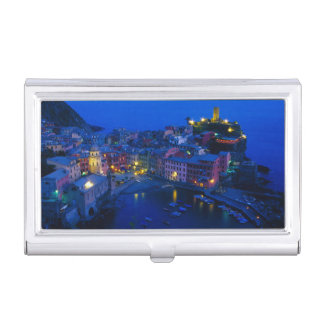 Europe, Italy, Cinque Terre, Vernazza. Hillside Business Card Holder