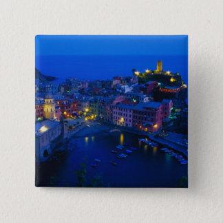 Europe, Italy, Cinque Terre, Vernazza. Hillside Pinback Button