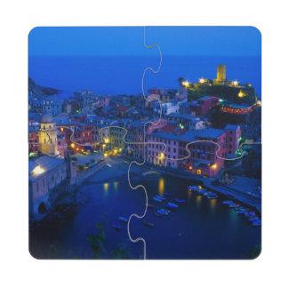 Europe, Italy, Cinque Terre, Vernazza. Hillside Puzzle Coaster