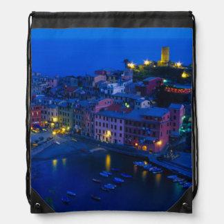 Europe, Italy, Cinque Terre, Vernazza. Hillside Drawstring Bags