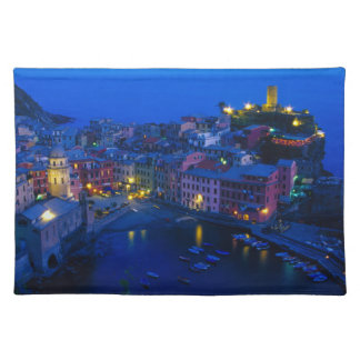 Europe, Italy, Cinque Terre, Vernazza. Hillside Place Mat
