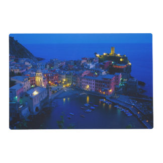 Europe, Italy, Cinque Terre, Vernazza. Hillside Placemat