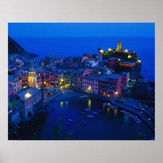 Europe, Italy, Cinque Terre, Vernazza. Hillside Poster