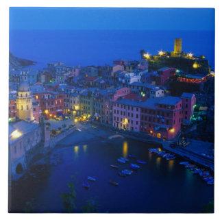 Europe, Italy, Cinque Terre, Vernazza. Hillside Ceramic Tile