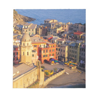 Europe, Italy, Cinque Terre. Village of Vernazza Notepad
