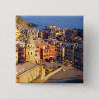 Europe, Italy, Cinque Terre. Village of Vernazza Pinback Button