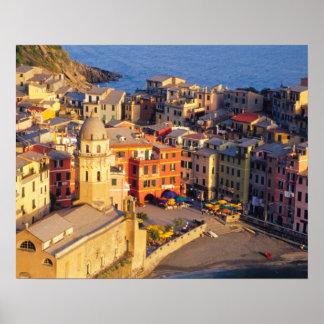 Europe, Italy, Cinque Terre. Village of Vernazza Poster
