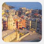 Europe, Italy, Cinque Terre. Village of Vernazza Square Sticker