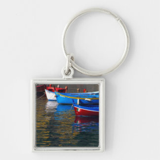 Europe, Italy, Cinque Terry, boats in Vernazza Keychain