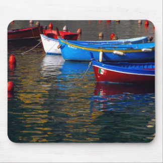 Europe Italy Cinque Terry boats in Vernazza Mouse Pads