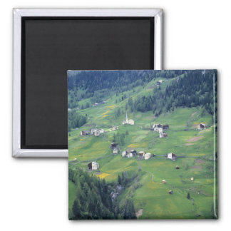 Europe, Italy, Dolomite Alps. This tiny village 2 Inch Square Magnet