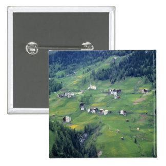 Europe, Italy, Dolomite Alps. This tiny village Button