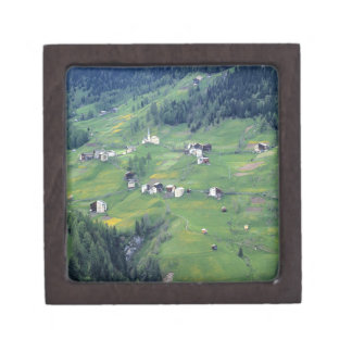 Europe, Italy, Dolomite Alps. This tiny village Gift Box