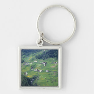 Europe, Italy, Dolomite Alps. This tiny village Keychain