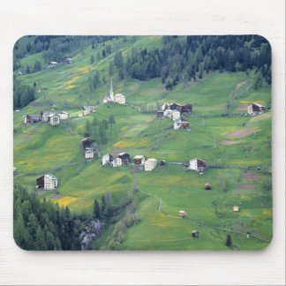 Europe, Italy, Dolomite Alps. This tiny village Mouse Pad