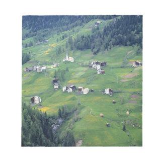 Europe, Italy, Dolomite Alps. This tiny village Memo Pads