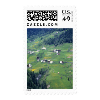 Europe, Italy, Dolomite Alps. This tiny village Stamp