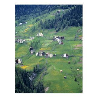Europe, Italy, Dolomite Alps. This tiny village Postcard