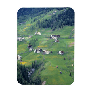 Europe, Italy, Dolomite Alps. This tiny village Rectangular Photo Magnet