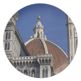 Europe, Italy, Florence. Duomo Cathedral Dinner Plate