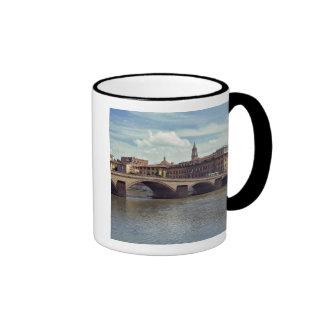 Europe, Italy, Florence. The Arno River flows Ringer Coffee Mug