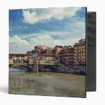 Europe, Italy, Florence. The Ponte Vecchio 3 Ring Binder