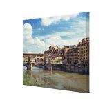 Europe, Italy, Florence. The Ponte Vecchio Canvas Print