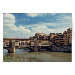 Europe, Italy, Florence. The Ponte Vecchio Card