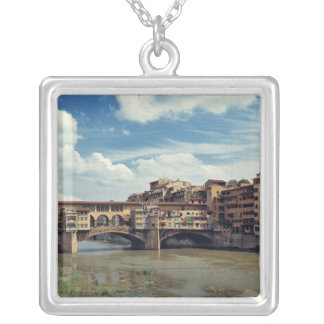 Europe, Italy, Florence. The Ponte Vecchio Silver Plated Necklace