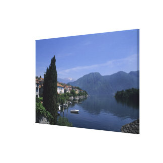 Europe, Italy, Lake Como, Tremezzo. Northern Canvas Print