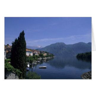 Europe, Italy, Lake Como, Tremezzo. Northern Card