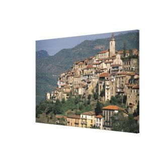 Europe, Italy, Liguria, Apricale. Riviera Di Canvas Print