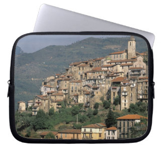 Europe, Italy, Liguria, Apricale. Riviera Di Laptop Sleeves