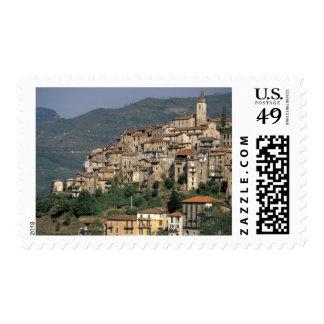 Europe, Italy, Liguria, Apricale. Riviera Di Postage