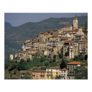 Europe, Italy, Liguria, Apricale. Riviera Di Poster