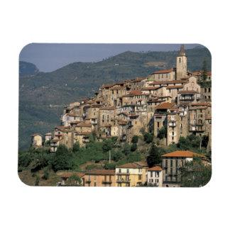 Europe, Italy, Liguria, Apricale. Riviera Di Rectangle Magnet