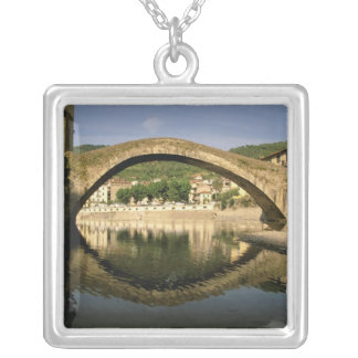 Europe, Italy, Liguria, Dolceacqua, Riviera di Silver Plated Necklace