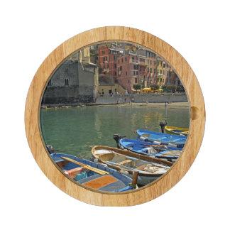 Europe, Italy, Liguria region, Cinque Terre, 2 Round Cheeseboard