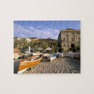 Europe, Italy, Liguria, Riviera di Ponente, 4 Jigsaw Puzzle