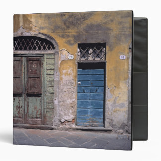 Europe, Italy, Lucca. These old doors add 3 Ring Binders