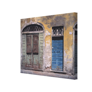 Europe, Italy, Lucca. These old doors add Canvas Print