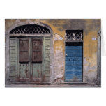 Europe, Italy, Lucca. These old doors add Card
