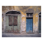 Europe, Italy, Lucca. These old doors add Photo Print