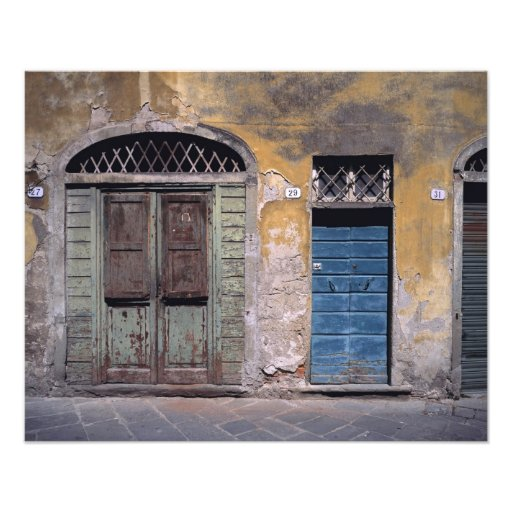 Europe, Italy, Lucca. These old doors add Photographic Print