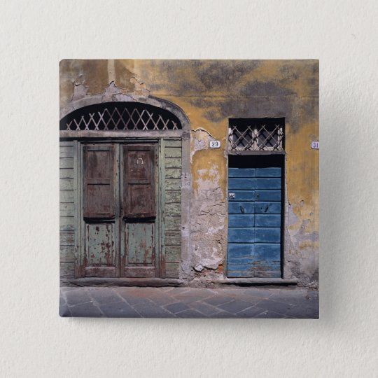 Europe, Italy, Lucca. These old doors add Pinback Button