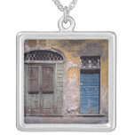 Europe, Italy, Lucca. These old doors add Square Pendant Necklace