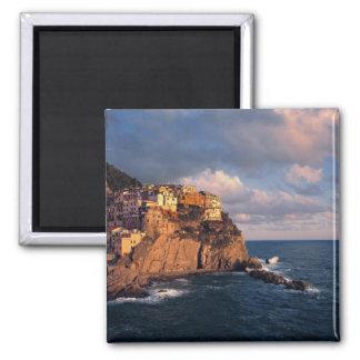 Europe, Italy, Manarola. The cliff-nestled 2 Inch Square Magnet