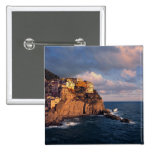 Europe, Italy, Manarola. The cliff-nestled Pinback Buttons