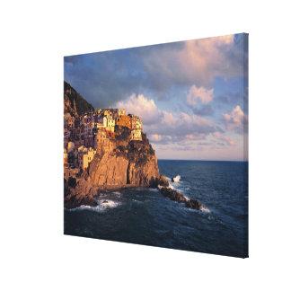 Europe, Italy, Manarola. The cliff-nestled Canvas Print