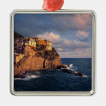 Europe, Italy, Manarola. The cliff-nestled Ornaments